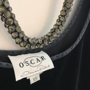 Oscar de La Renta Black Velvet Shirt XS